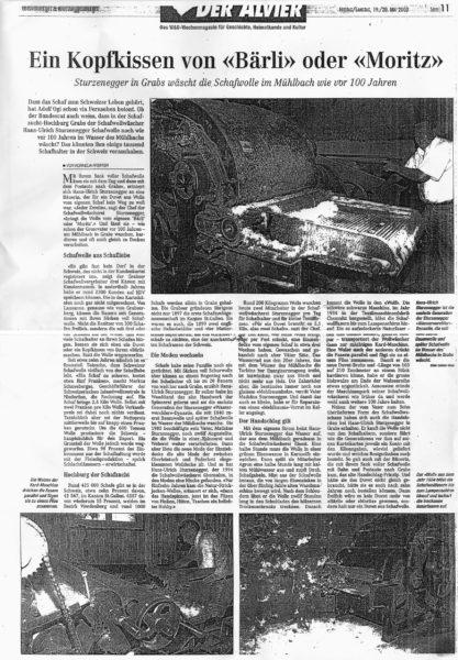 Artikel H. U. Sturzenegger