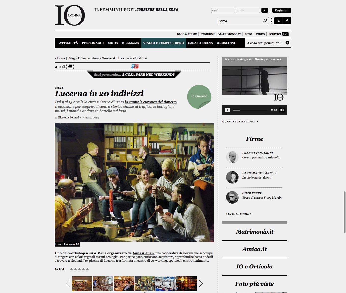 IO Donna – Corriere Della Sera
