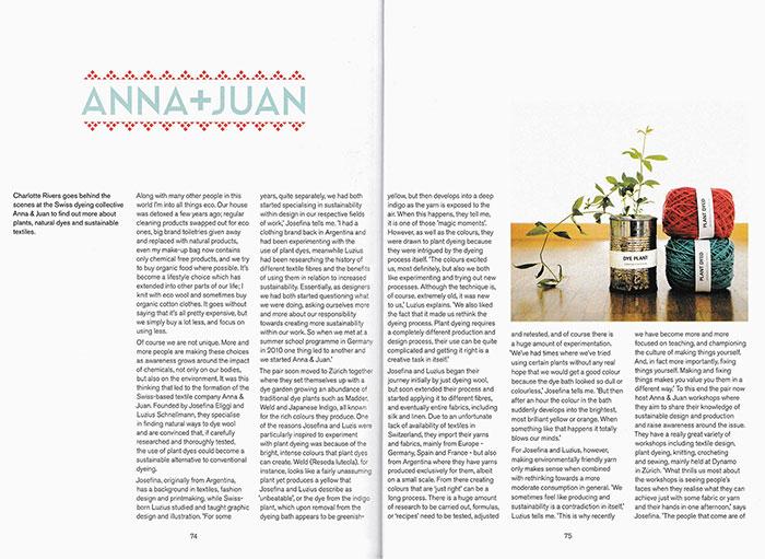 Pom Pom Quarterly – Anna & Juan