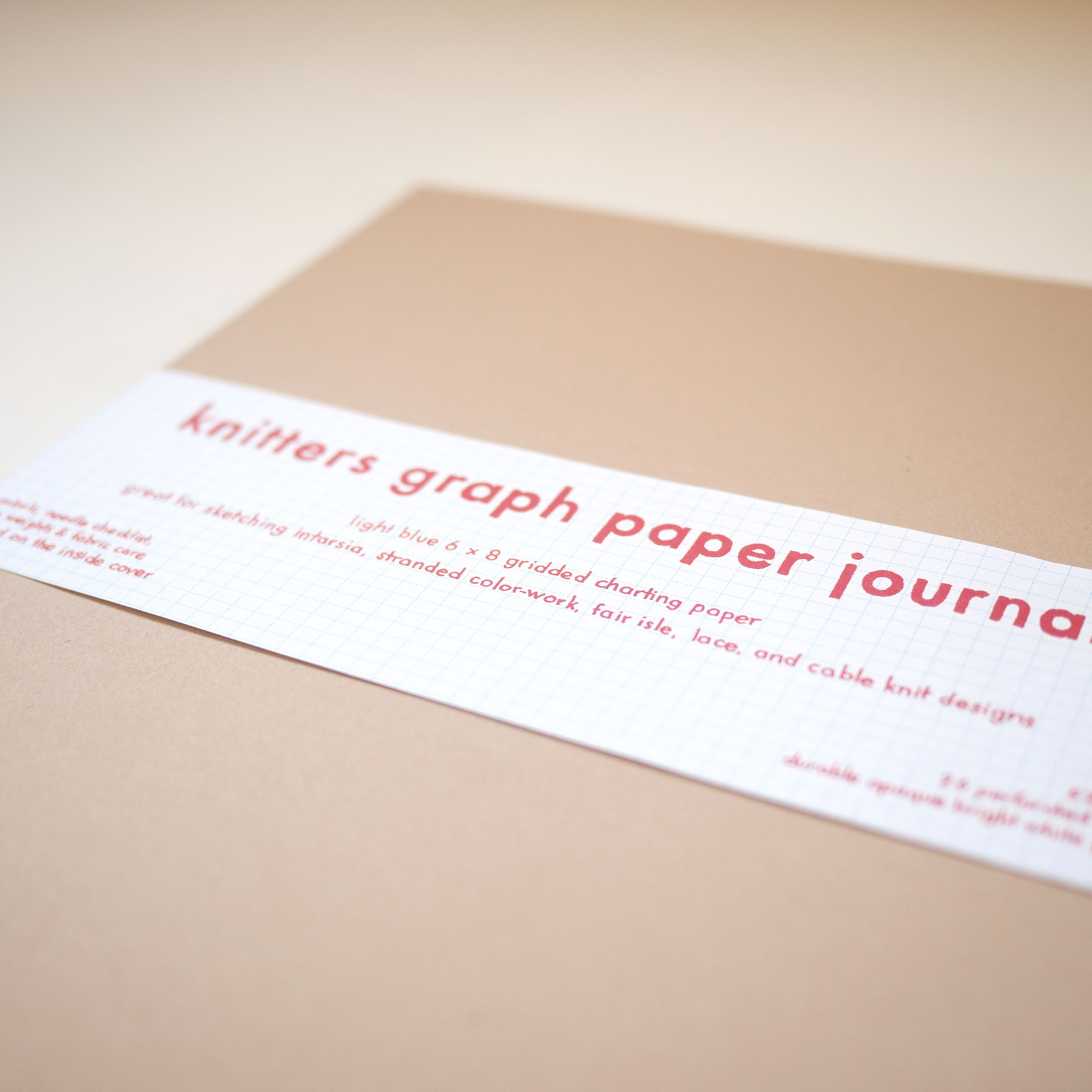 Knitters Graph Paper Journal
