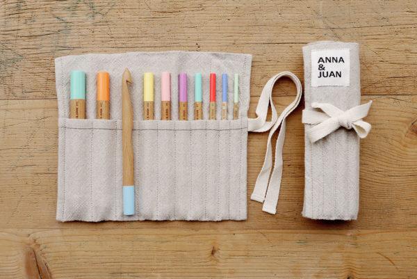 Anna & Juan – Häkelnadeln farbig, Buchenholz – Set gross