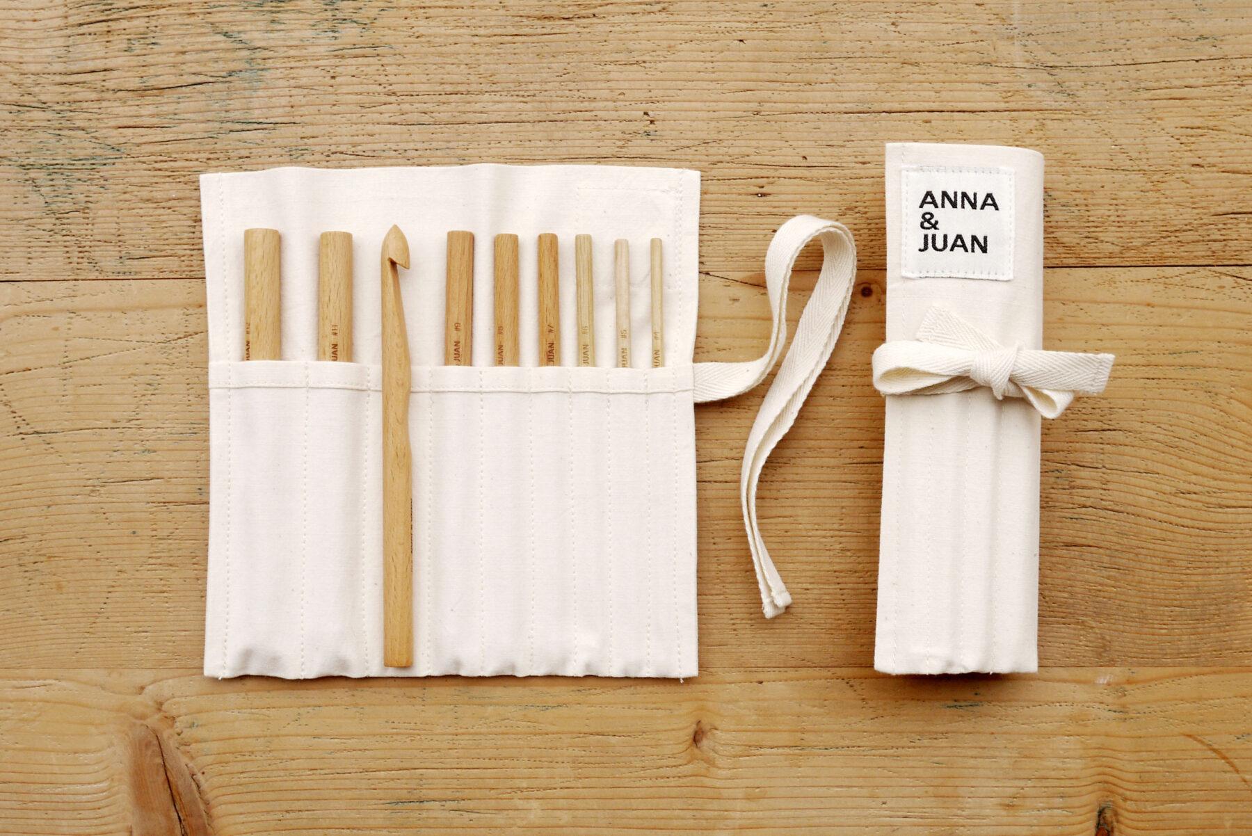 Anna & Juan – Häkelnadeln, Buchenholz – Set