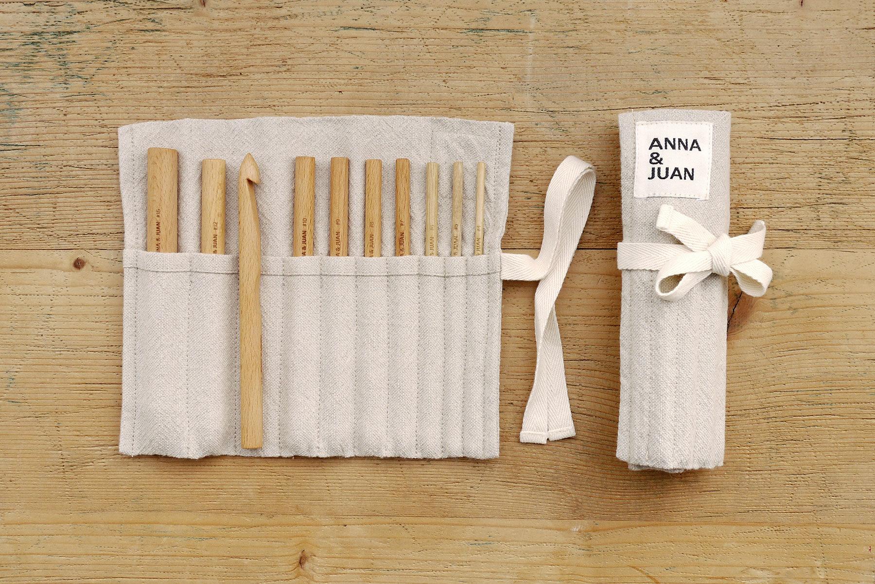 Anna & Juan – Häkelnadeln, Buchenholz – Set Large
