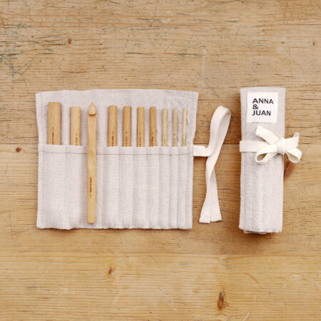 Anna & Juan – Crochet Hooks, Beech Wood – Set Large