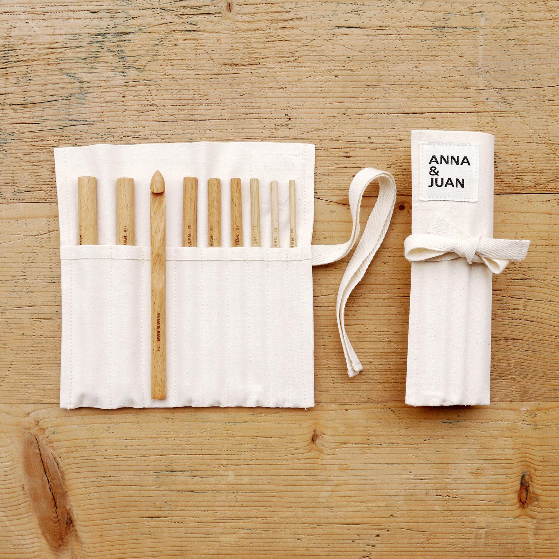 Anna & Juan – Crochet Hooks, Beech Wood – Set