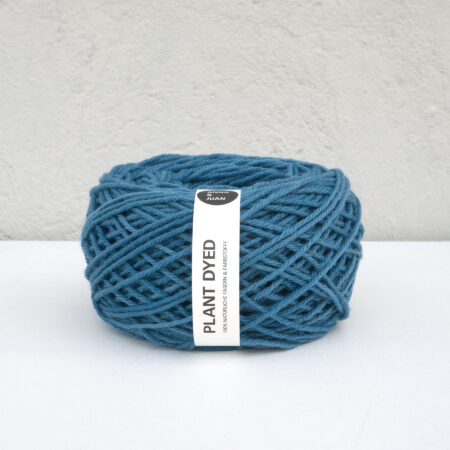"Anna & Juan Wool ""Plant Dyed"" – Merino Twisted – Worsted Weight – Indigo"