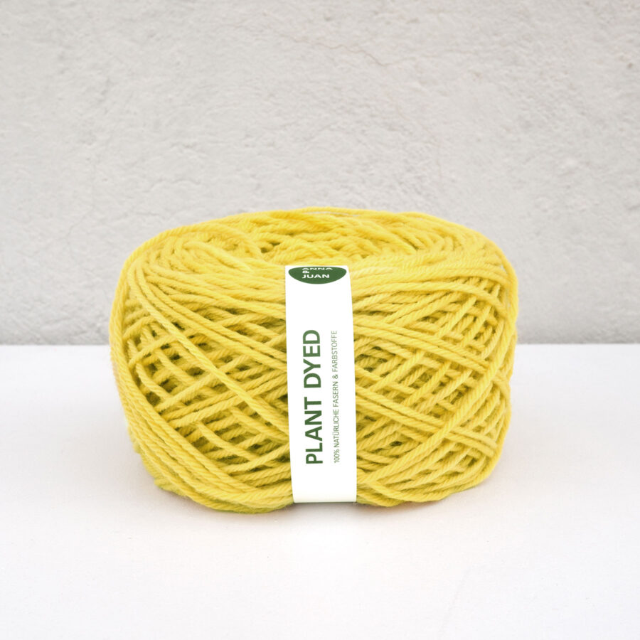 Anna & Juan Wolle «Plant Dyed» – Merino Twisted – Worsted Weight – Reseda