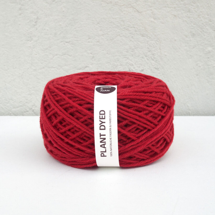 """Anna & Juan Wool """"Plant Dyed"""" – Merino Twisted – Worsted Weight – Madder/Cochineal"""
