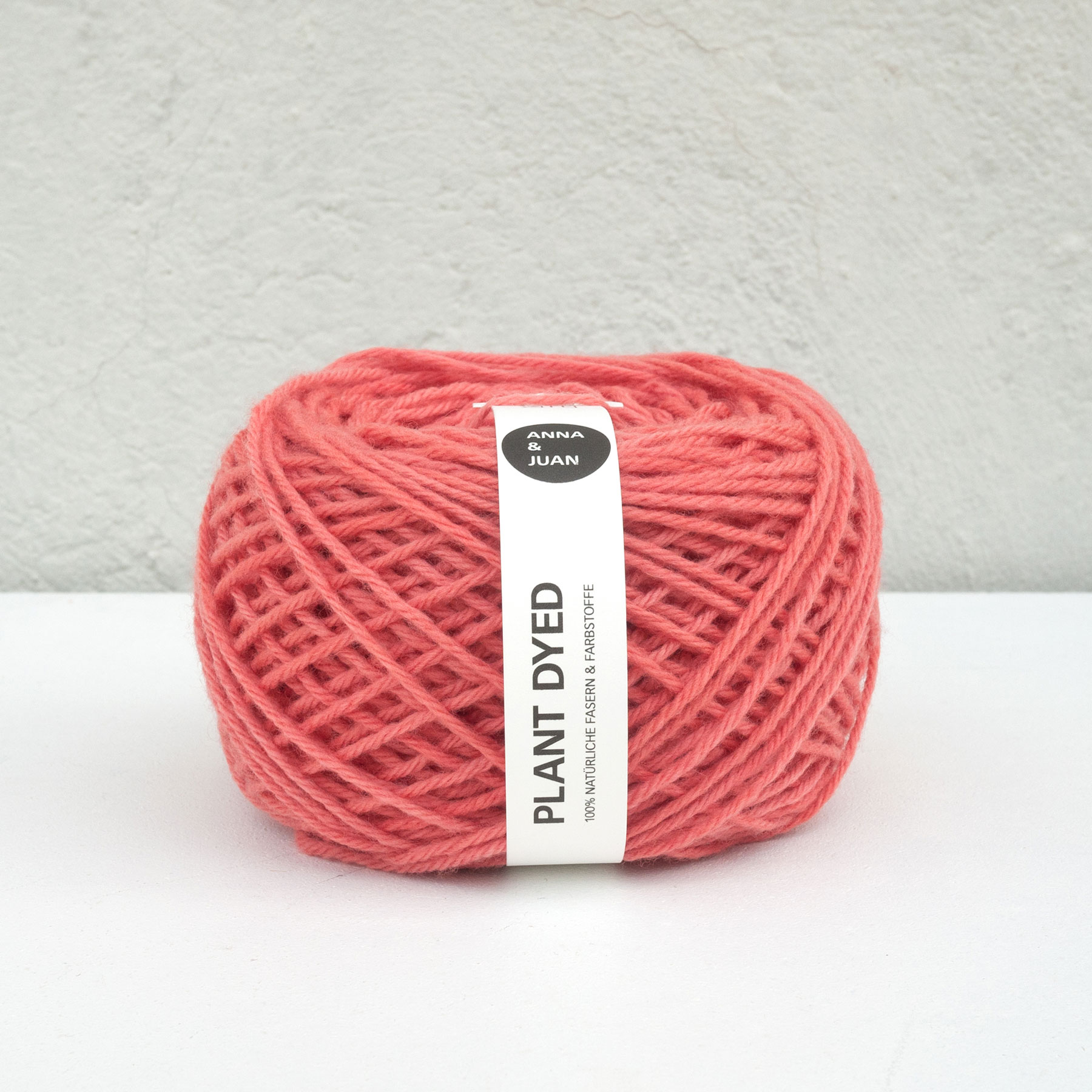 "Anna & Juan Wool ""Plant Dyed"" – Merino Twisted – Worsted Weight – Madder/Cochineal"