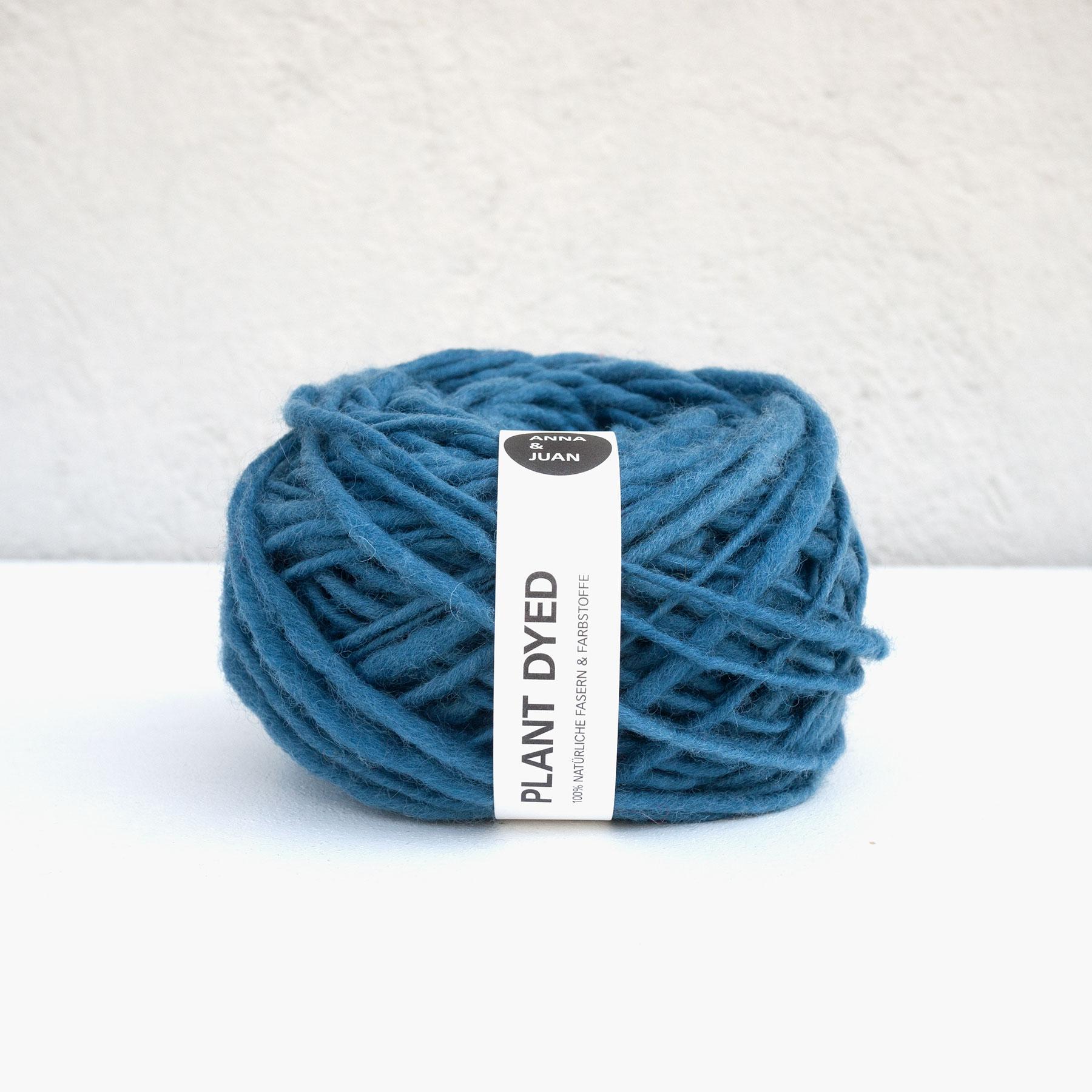 Anna & Juan Wolle «Plant Dyed» – Merino Handgesponnen – Super Bulky – Blau