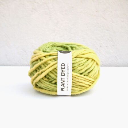 "Anna & Juan Wool ""Plant Dyed"" – Merino Hand-Spun – Super Bulky – Yellow Green"