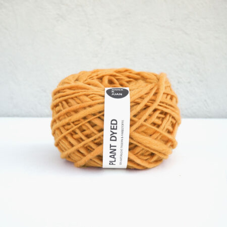 "Anna & Juan Wool ""Plant Dyed"" – Merino Hand-Spun – Super Bulky – Orange"