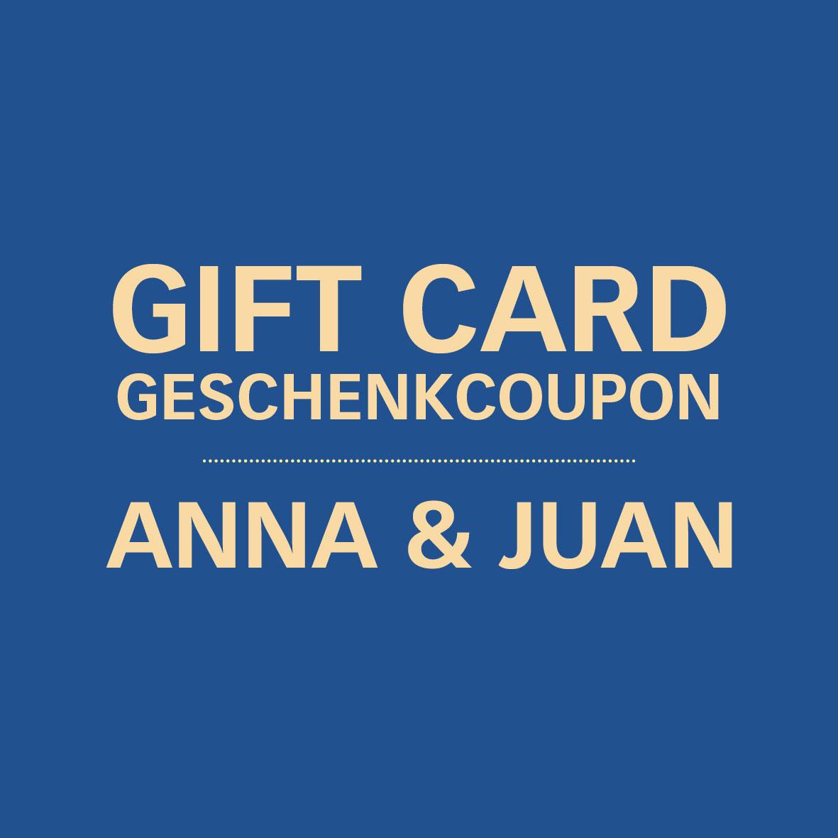 Anna & Juan – Geschenkcoupon