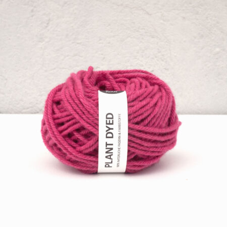 "Anna & Juan Yarn ""Plant Dyed"" – Spanish Merino – Worsted - Chunky – Cochineal"