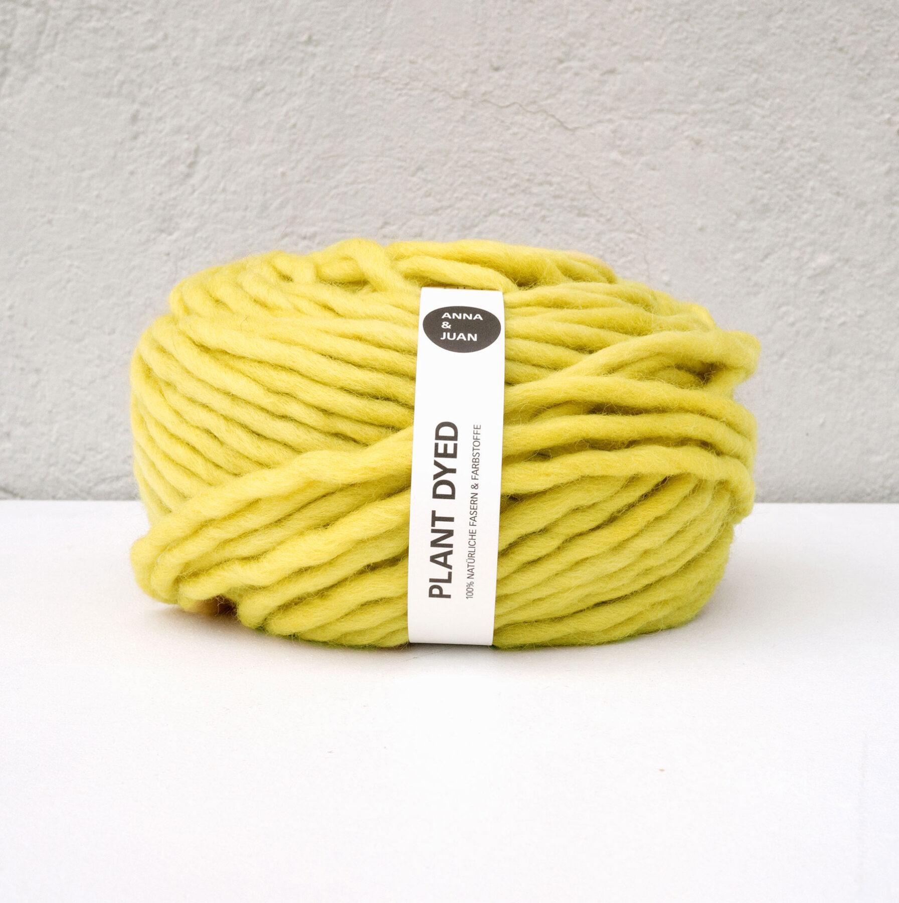 Anna & Juan Garn «Plant Dyed» – Bulky Merino – Super Bulky/Roving Weight – Reseda luteola