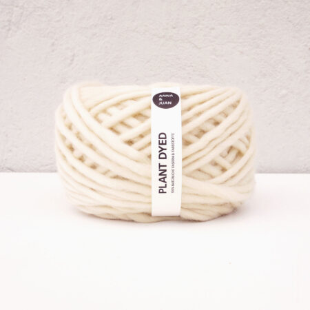 "Anna & Juan Yarn ""Plant Dyed"" – Bulky Merino – Super Bulky/Roving Weight – Undyed"